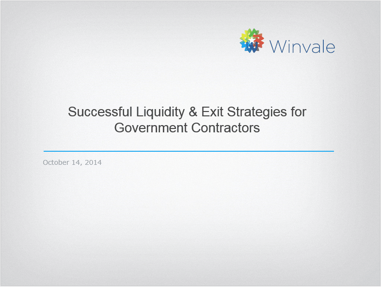 Download Successful Liquidity & Exit Strategies for Government Contractors
