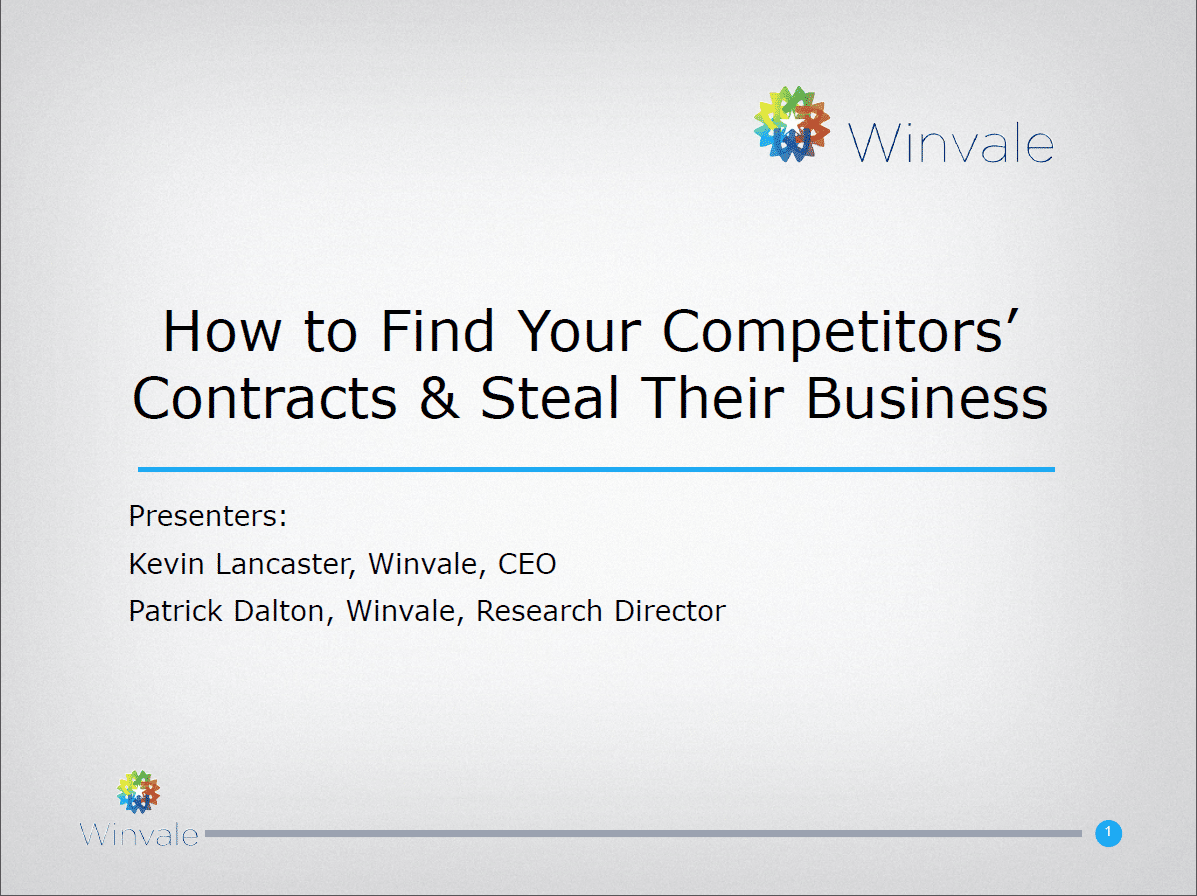 Do You Know How to Find Your Competitors' Government Customers?