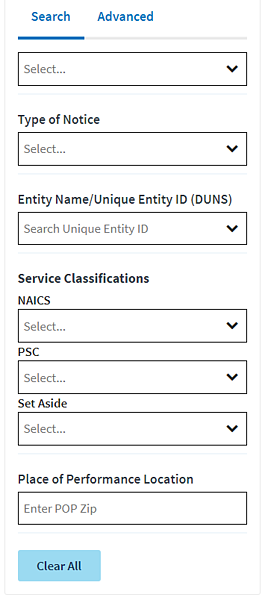 Screenshot Contract Opps beta.sam.gov