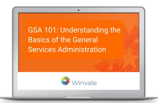 GSA 101 webinar